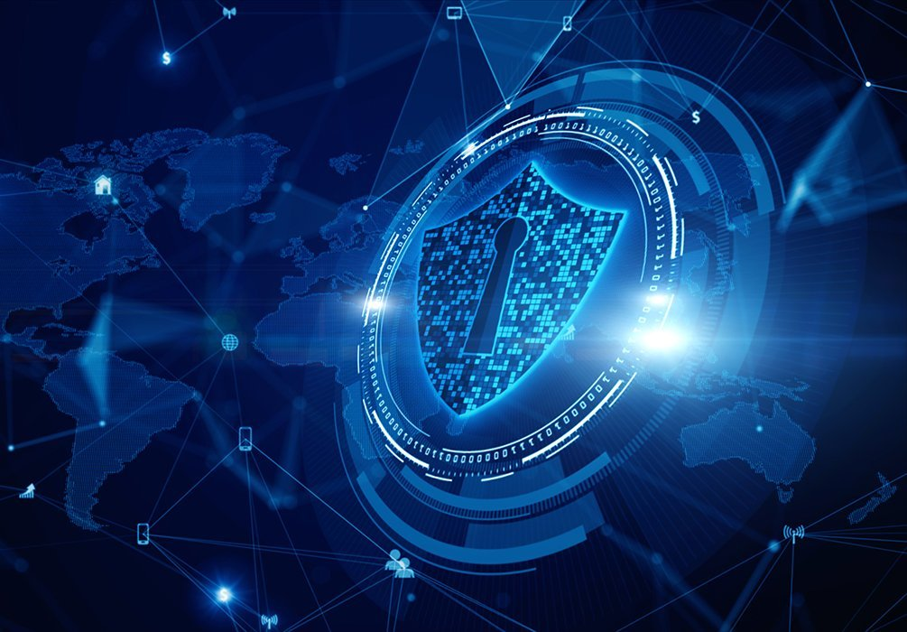 shield icon cyber security digital data network protection future technology digital data network connection